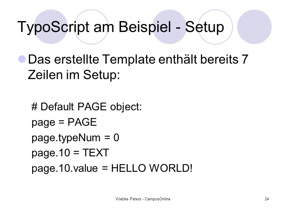TypoScript am Beispiel - Setup