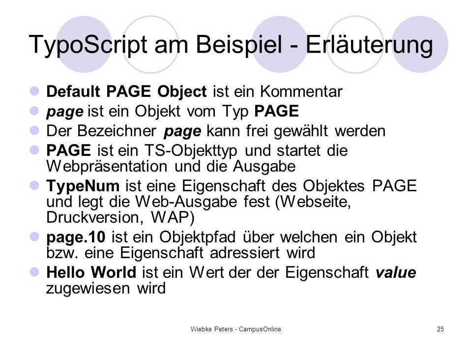 TypoScript am Beispiel - Erläuterung