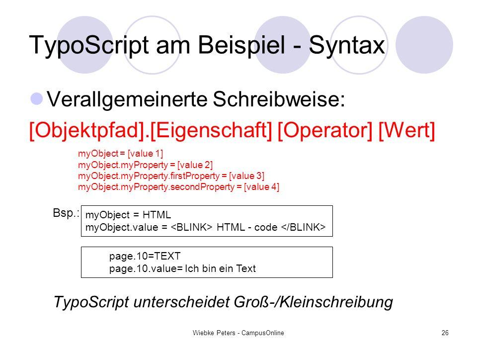 TypoScript am Beispiel - Syntax
