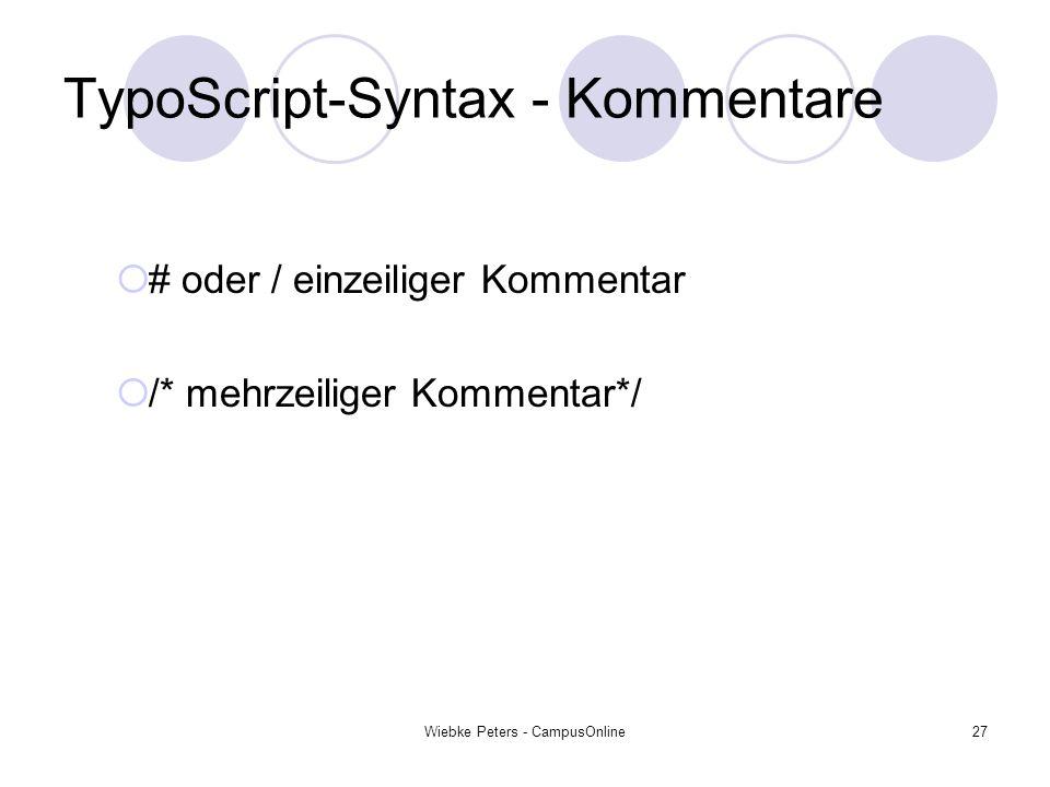 TypoScript-Syntax - Kommentare