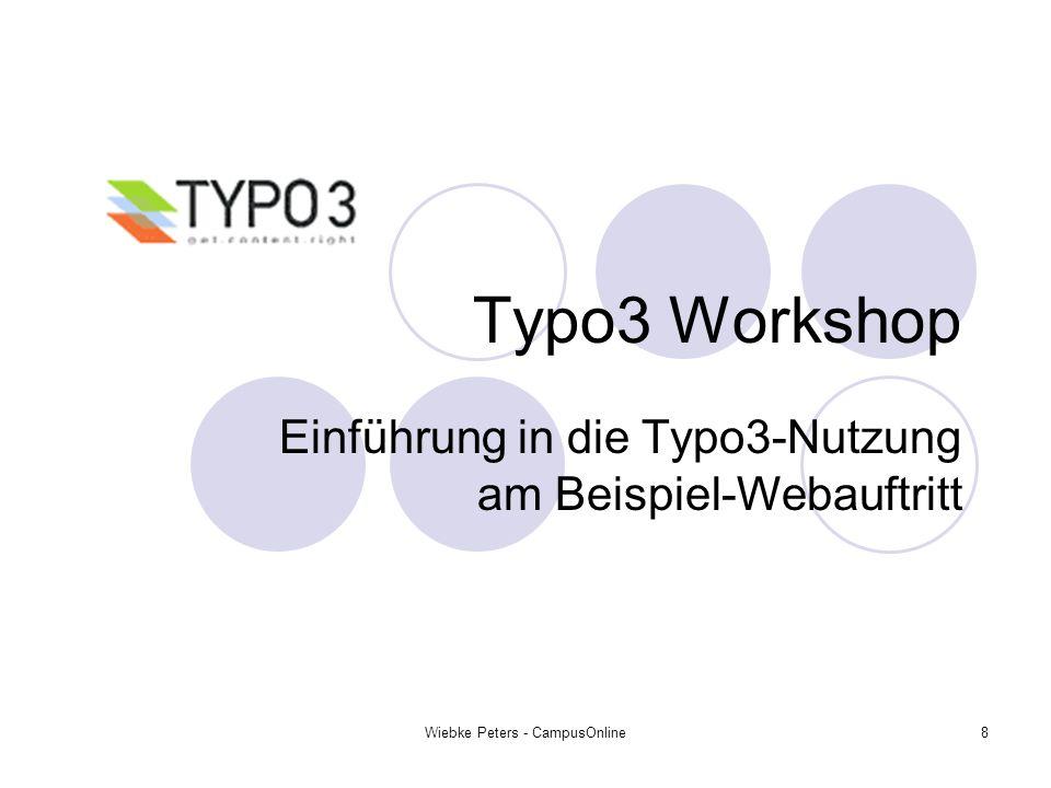 Einführung in die Typo3-Nutzung am Beispiel-Webauftritt