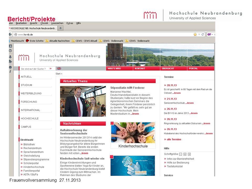 Bericht/Projekte Projekte /Themen: