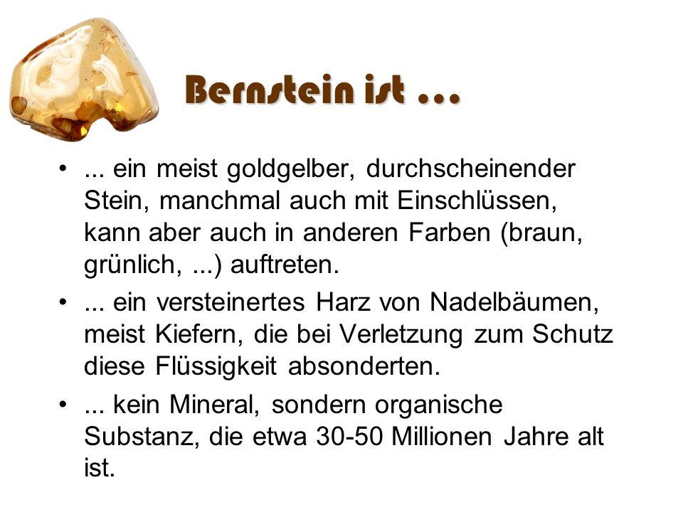 Bernstein ist ...
