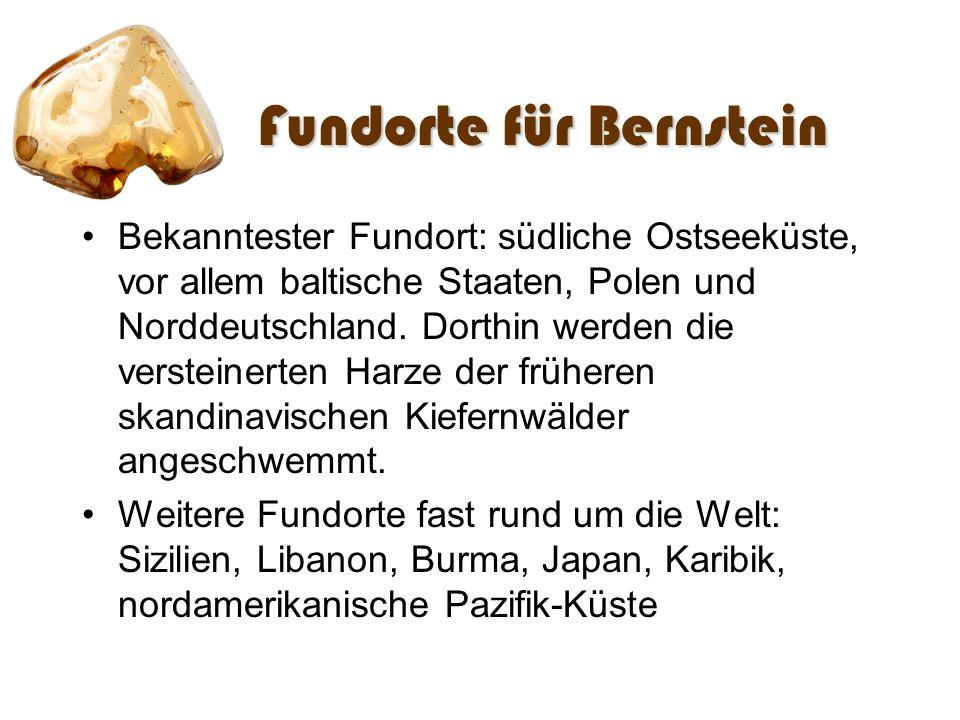 Fundorte für Bernstein