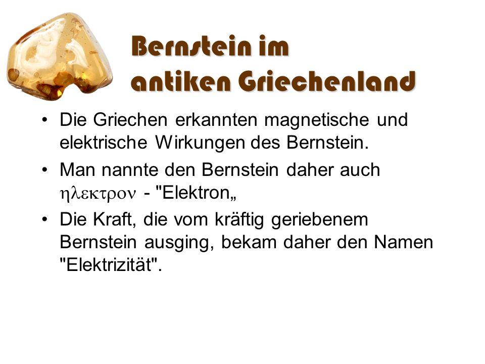 Bernstein im antiken Griechenland