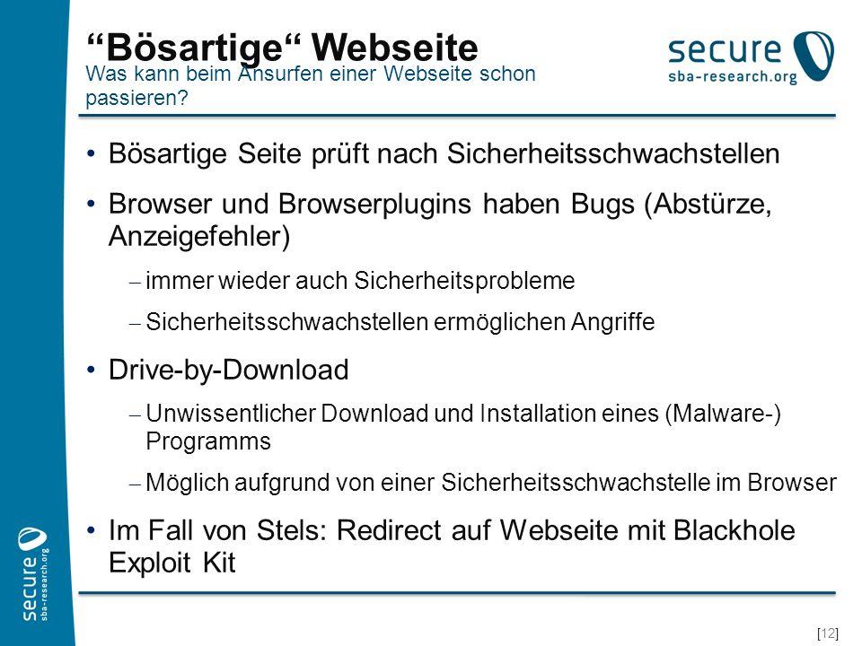 Bösartige Webseite Was kann beim Ansurfen einer Webseite schon passieren Bösartige Seite prüft nach Sicherheitsschwachstellen.