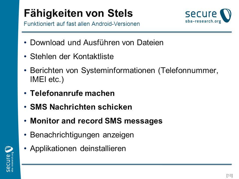 Fähigkeiten von Stels Download und Ausführen von Dateien