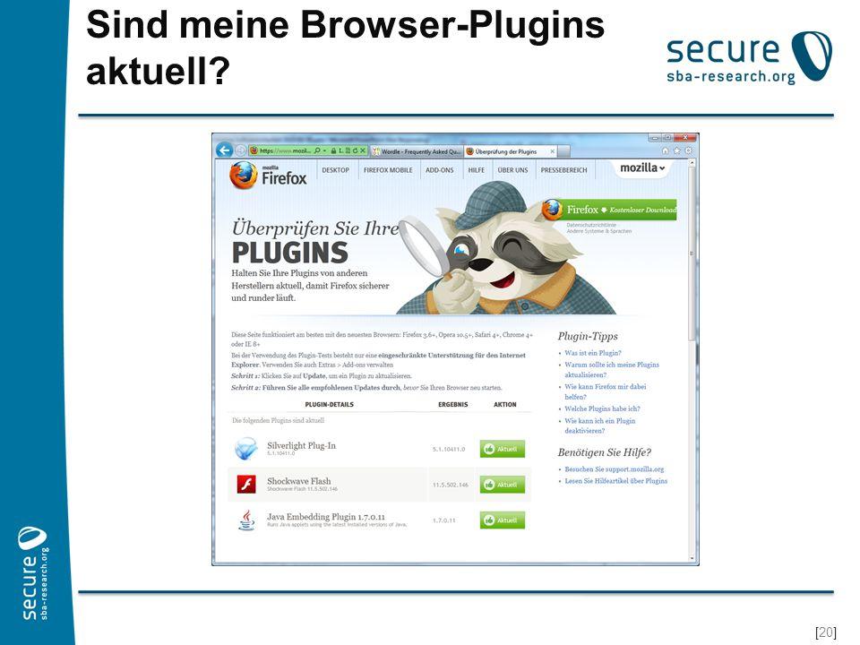 Sind meine Browser-Plugins aktuell