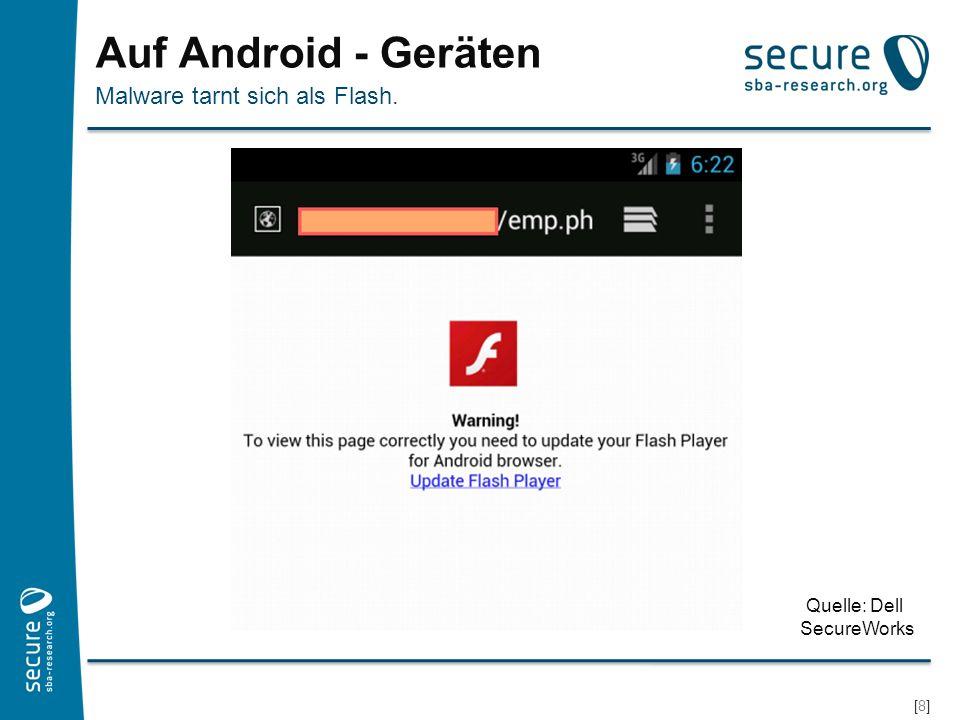 Auf Android - Geräten Malware tarnt sich als Flash. Quelle: Dell