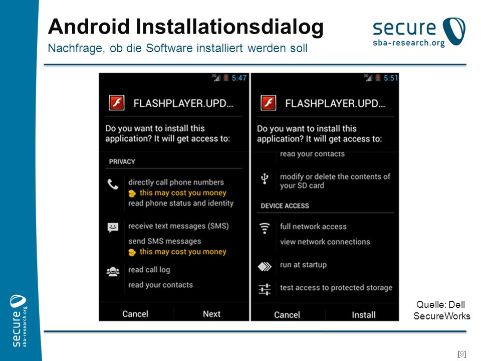 Android Installationsdialog