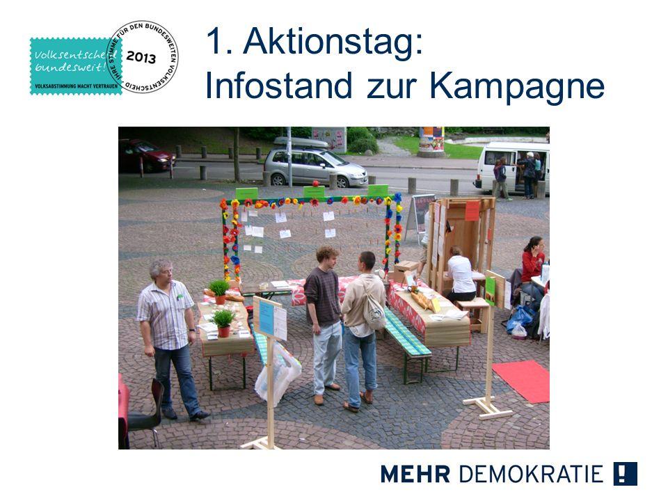 1. Aktionstag: Infostand zur Kampagne