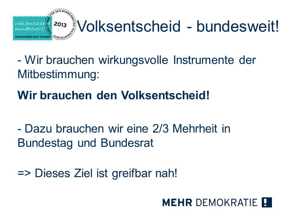 Volksentscheid - bundesweit!