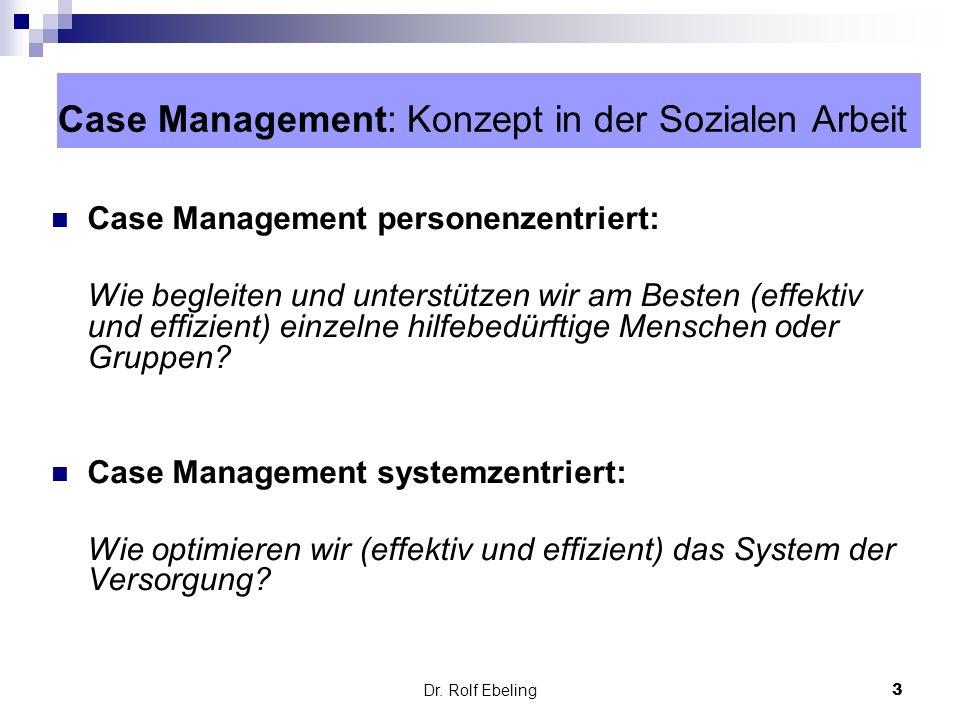 Case Management: Konzept in der Sozialen Arbeit