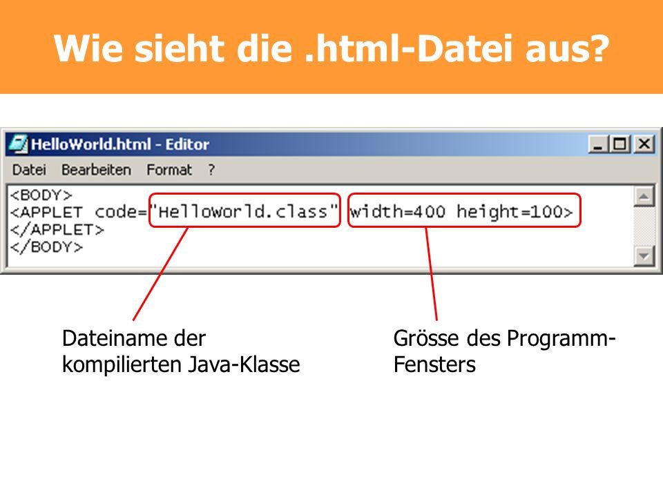 Wie sieht die .html-Datei aus
