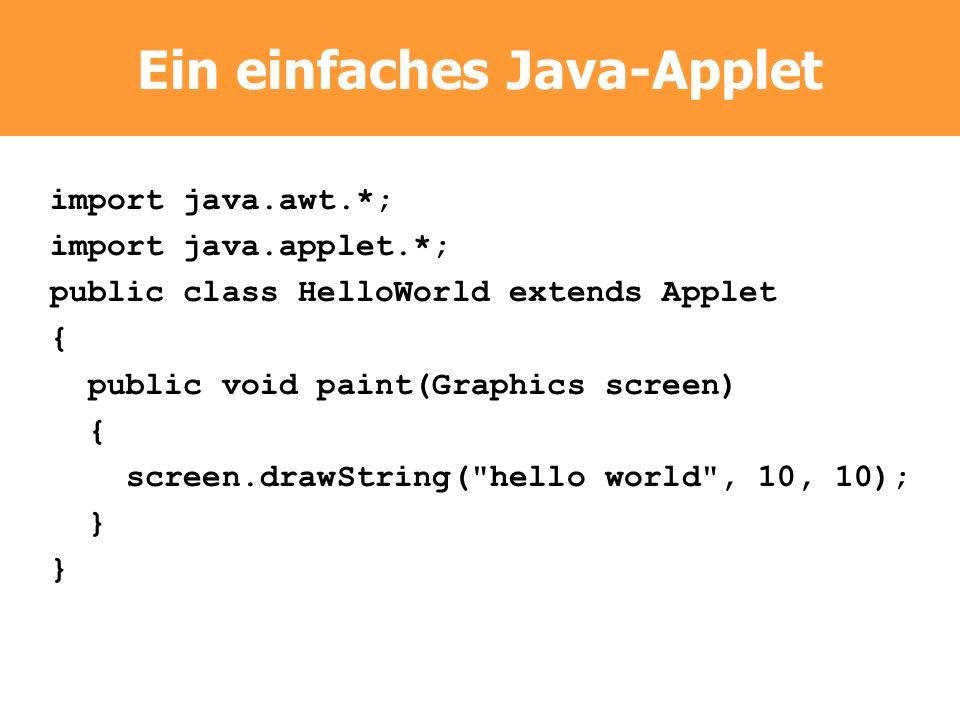 Ein einfaches Java-Applet