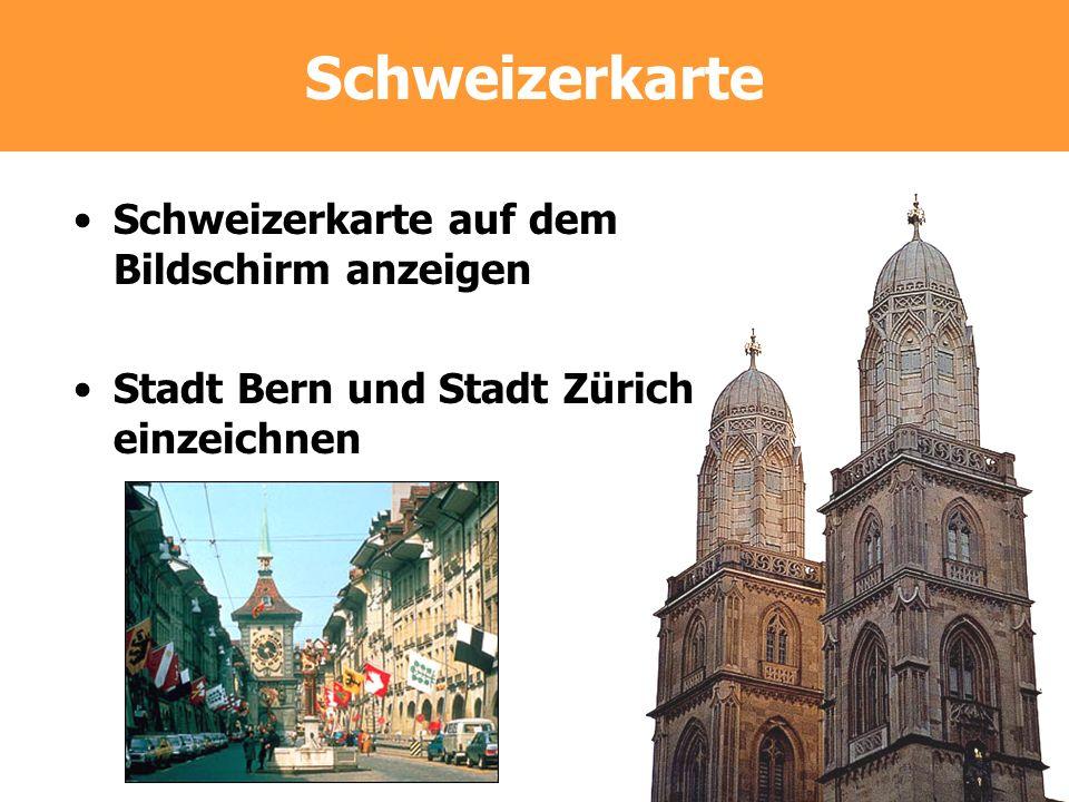 Schweizerkarte Schweizerkarte auf dem Bildschirm anzeigen
