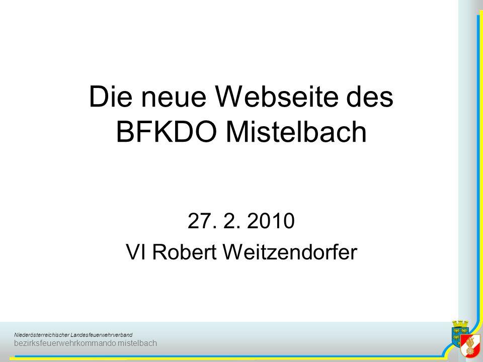 Die neue Webseite des BFKDO Mistelbach