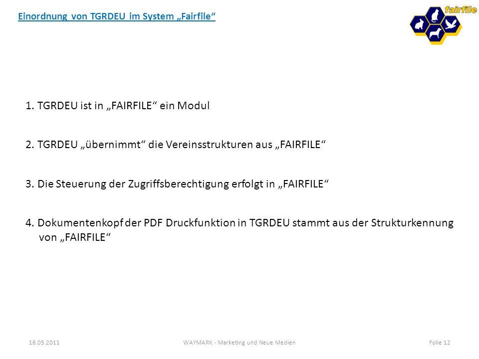 """Einordnung von TGRDEU im System """"Fairfile"""