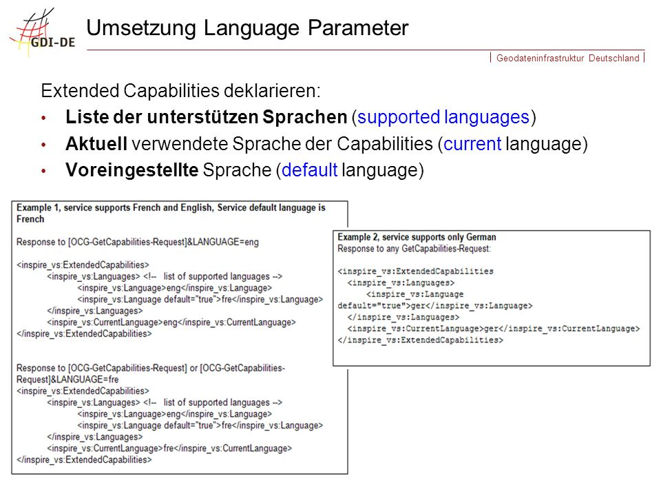 Umsetzung Language Parameter