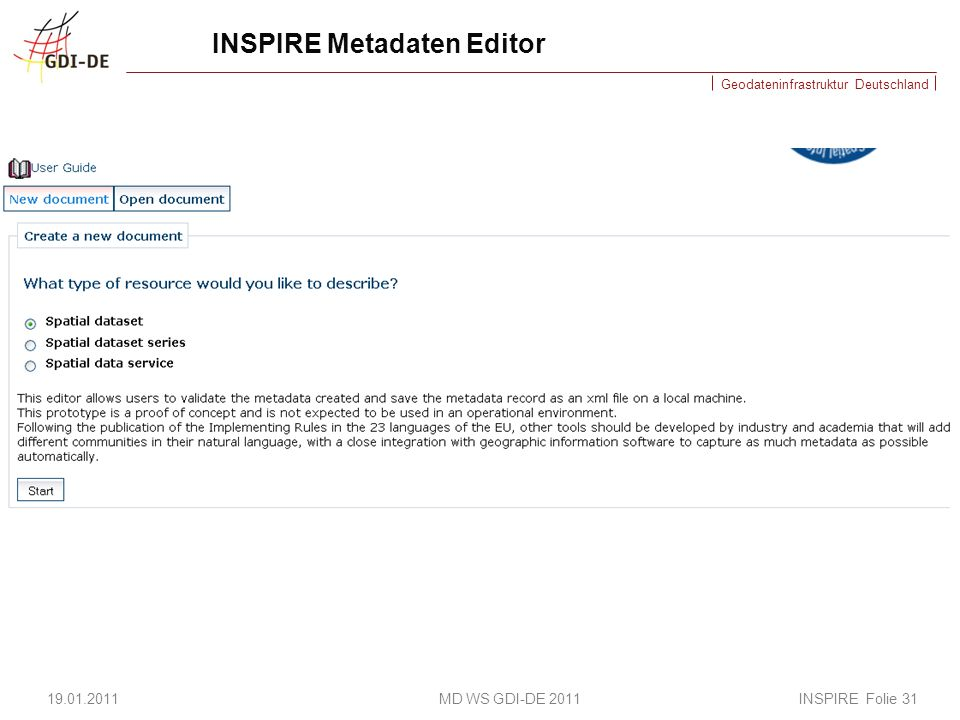INSPIRE Metadaten Editor