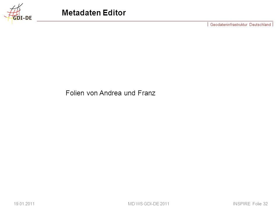 Metadaten Editor Folien von Andrea und Franz