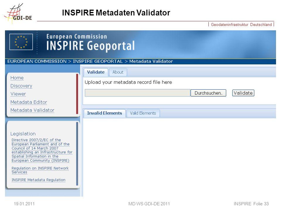INSPIRE Metadaten Validator