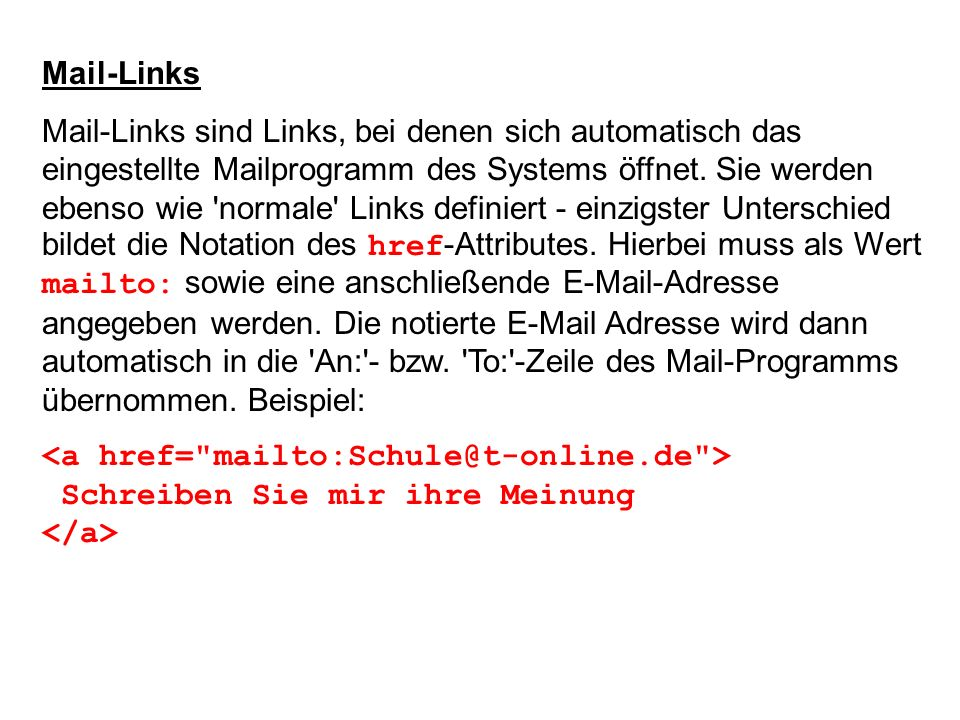Mail-Links
