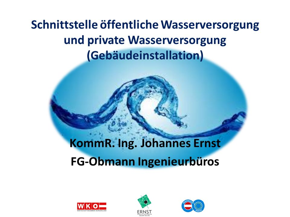 KommR. Ing. Johannes Ernst FG-Obmann Ingenieurbüros