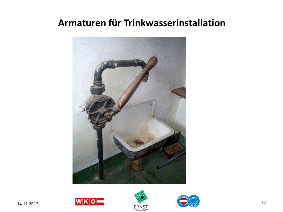 Armaturen für Trinkwasserinstallation