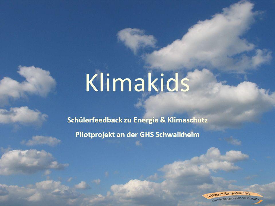 Klimakids Schülerfeedback zu Energie & Klimaschutz