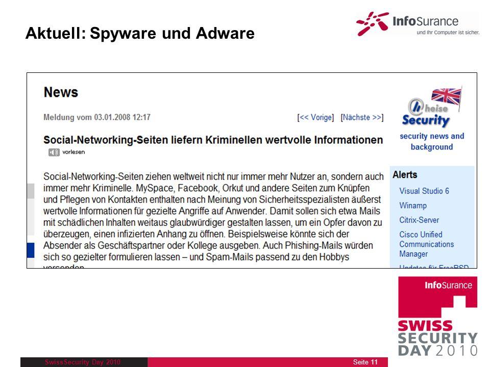 Aktuell: Spyware und Adware