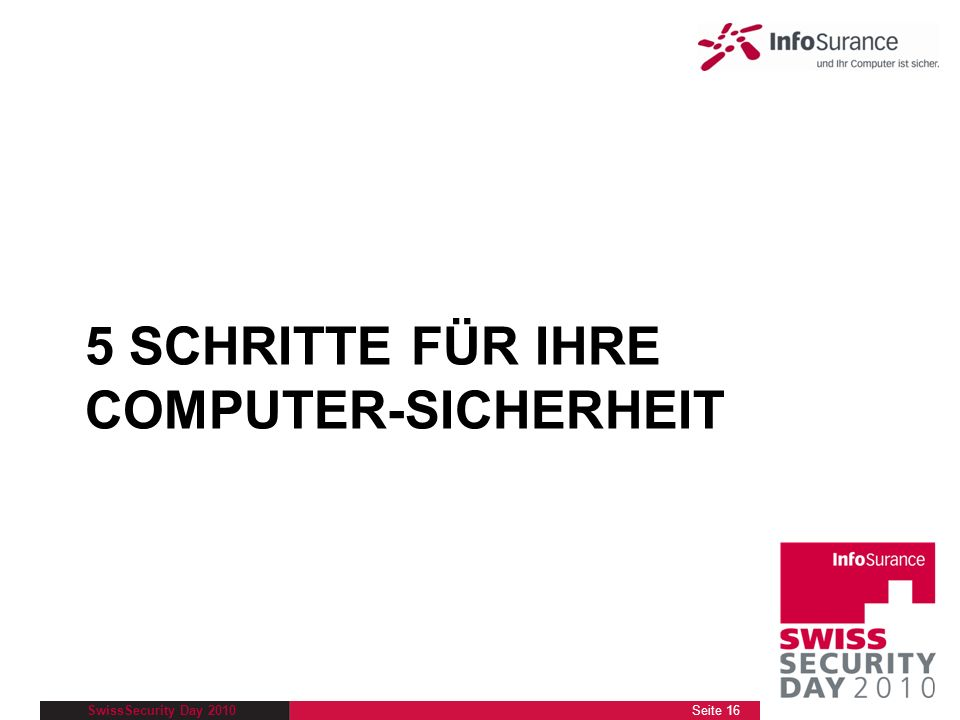 5 SCHRITTE FÜR IHRE COMPUTER-SICHERHEIT