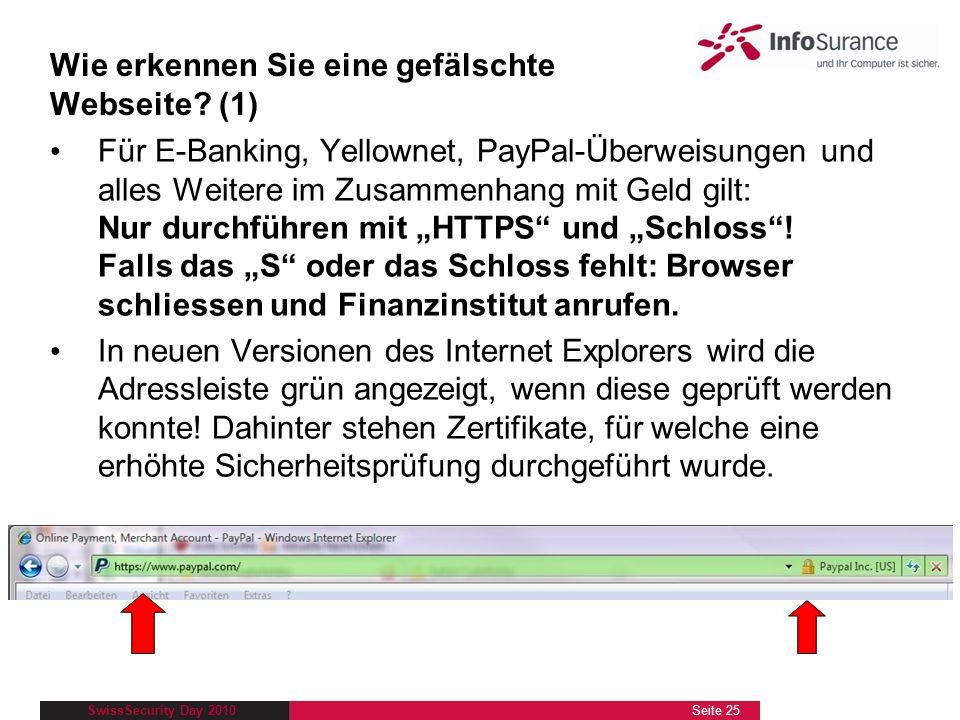 Wie erkennen Sie eine gefälschte Webseite (1)
