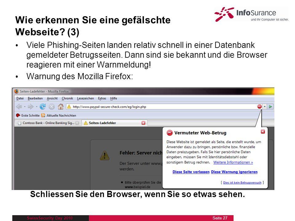 Wie erkennen Sie eine gefälschte Webseite (3)