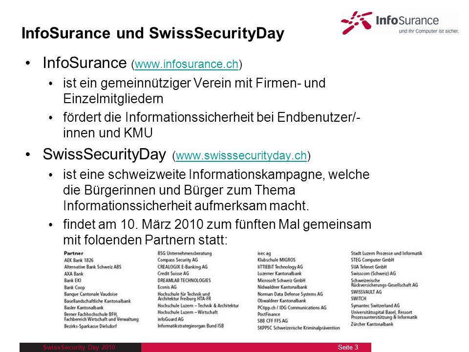 InfoSurance und SwissSecurityDay