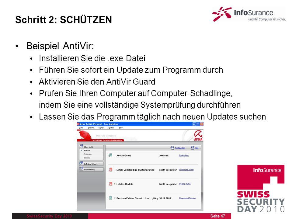 Schritt 2: SCHÜTZEN Beispiel AntiVir: Installieren Sie die .exe-Datei