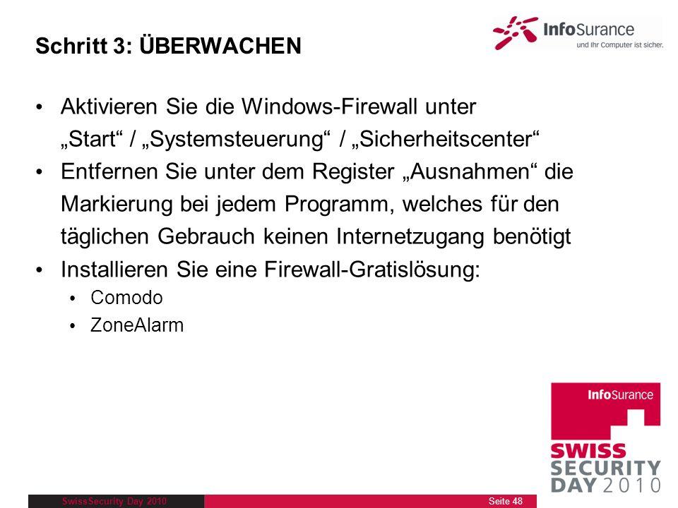 Aktivieren Sie die Windows-Firewall unter