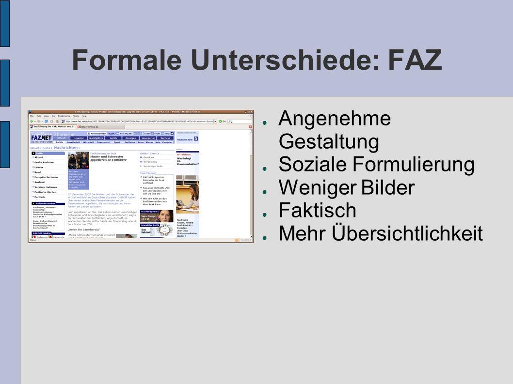 Formale Unterschiede: FAZ