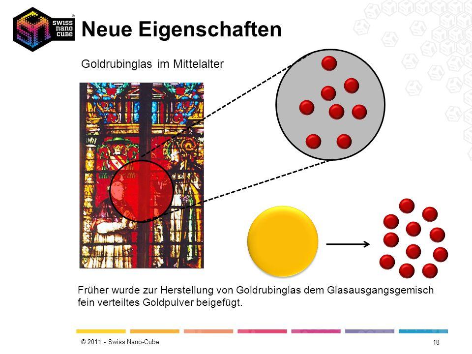 Neue Eigenschaften Goldrubinglas im Mittelalter