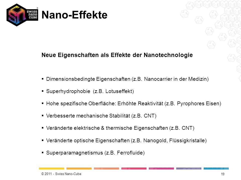 Nano-Effekte Neue Eigenschaften als Effekte der Nanotechnologie