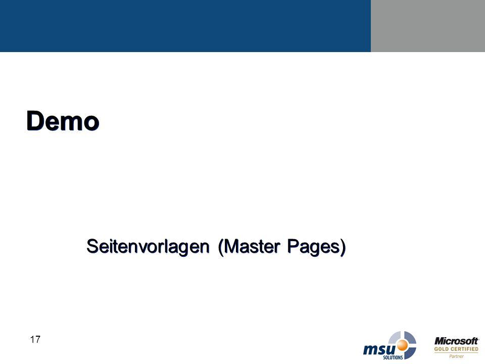 Seitenvorlagen (Master Pages)