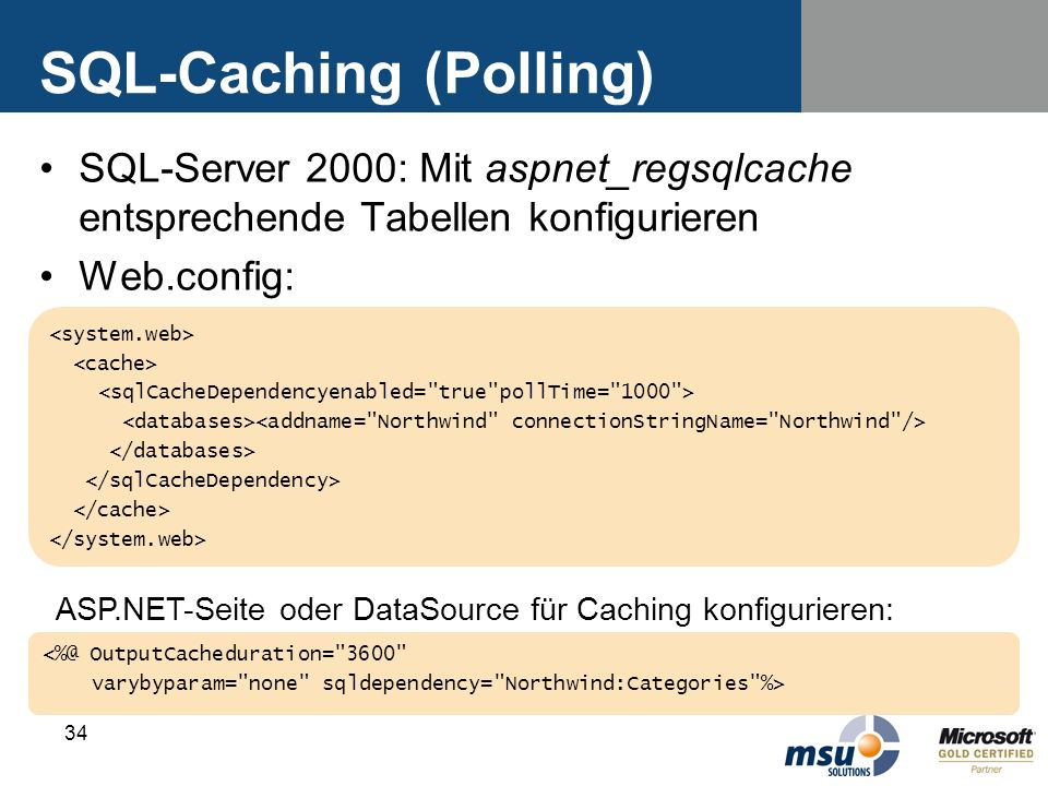 SQL-Caching (Polling)