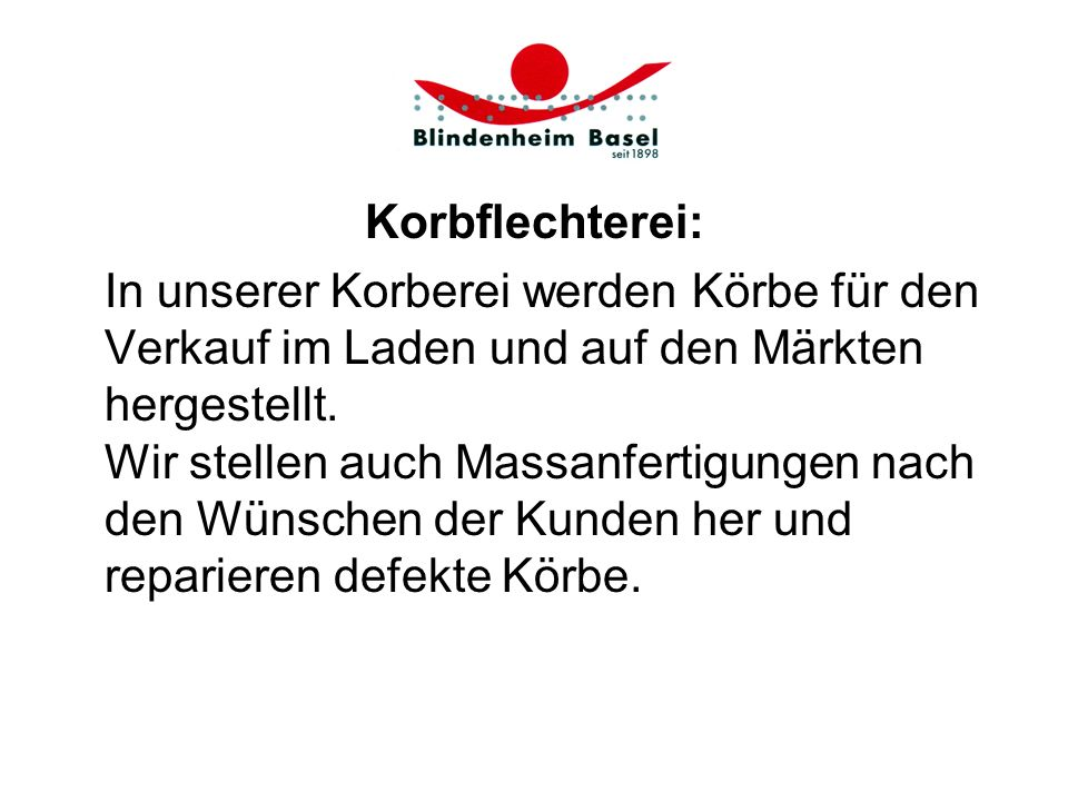 Korbflechterei: