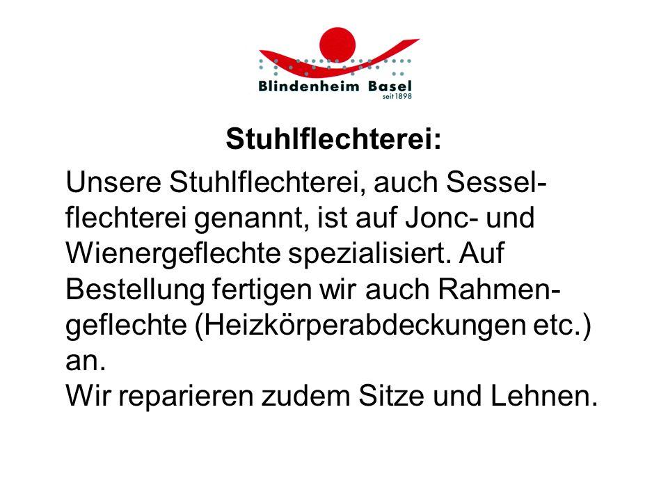 Stuhlflechterei: