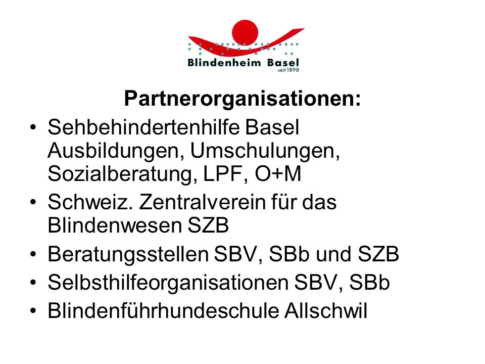 Partnerorganisationen: