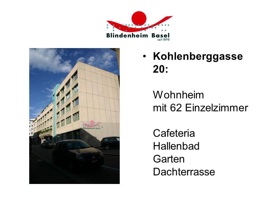 Kohlenberggasse 20: Wohnheim mit 62 Einzelzimmer Cafeteria Hallenbad Garten Dachterrasse