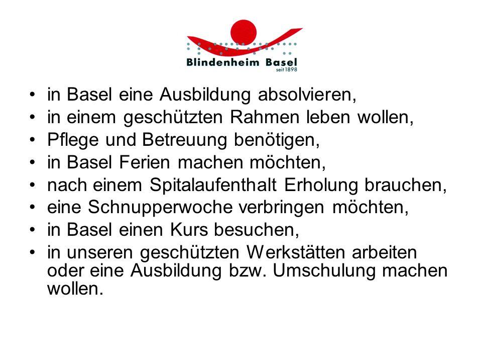 in Basel eine Ausbildung absolvieren,