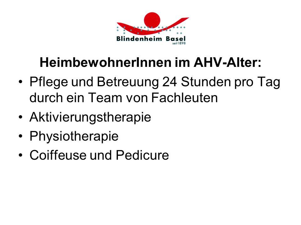 HeimbewohnerInnen im AHV-Alter:
