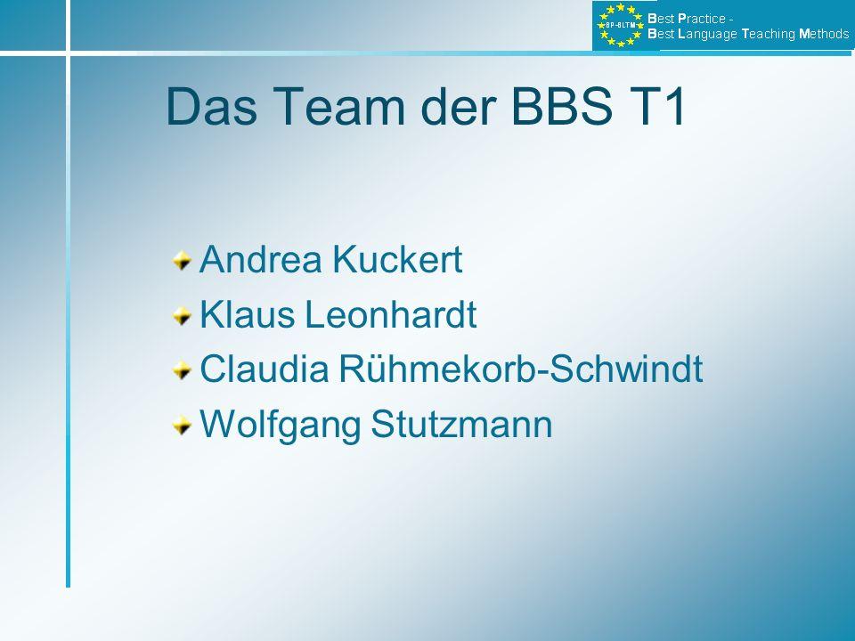 Das Team der BBS T1 Andrea Kuckert Klaus Leonhardt