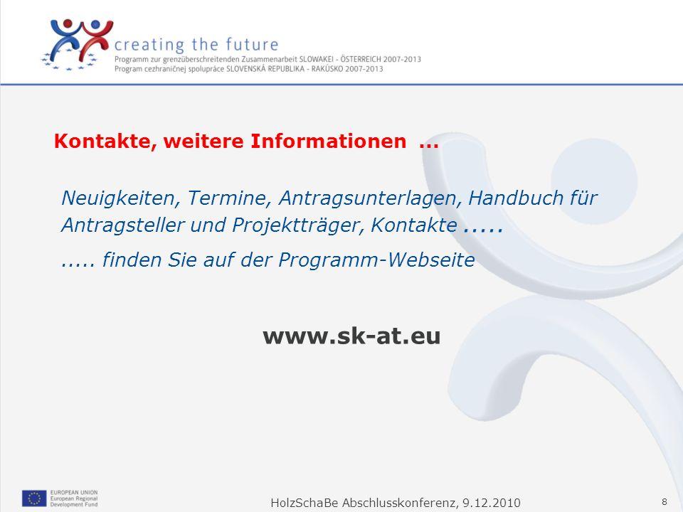 www.sk-at.eu Kontakte, weitere Informationen ...